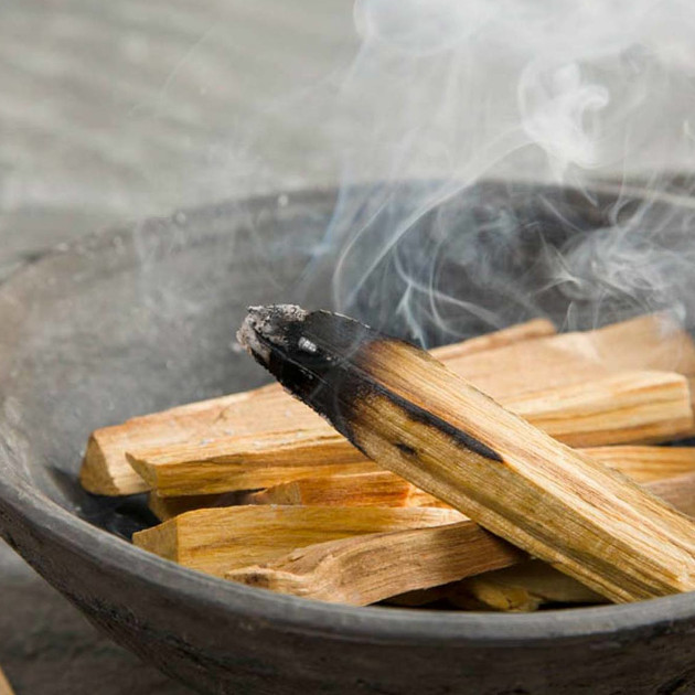 palo santo burning